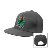 Charcoal Flat Bill Snapback Hat-Official Logo