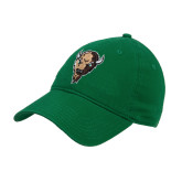 Kelly Green Twill Unstructured Low Profile Hat-Mascot Head