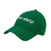 Kelly Green Twill Unstructured Low Profile Hat-The Herd