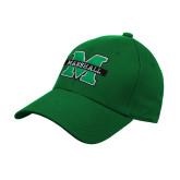 Kelly Green Heavyweight Twill Pro Style Hat-M Marshall