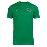 NIKE Apple Green Heather Dry Coach Short Sleeve Tee-
