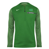 NIKE Kelly Green Sideline Coach 1/2 Zip Top-