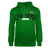 NIKE Kelly Green Sideline Therma PO Hoody-
