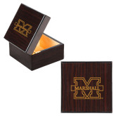 Wooden Jewelry Box-M Marshall Engraved