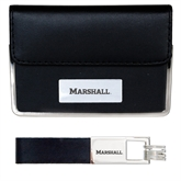 Business Card Case and Key Ring Set Black-Thundering Herd