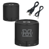 Wireless HD Bluetooth Black Round Speaker-M Marshall Engraved