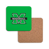 Hardboard Coaster w/Cork Backing-M Marshall