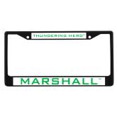 Metal License Plate Frame in Black-Marshall