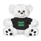 Plush Big Paw 8 1/2 inch White Bear w/Black Shirt-M Marshall
