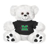 Plush Big Paw 8 1/2 inch White Bear w/Black Shirt-M Marshall