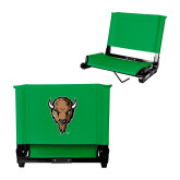 Stadium Chair Kelly Green-Mascot Head