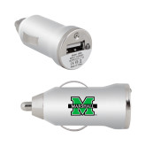 On the Go Silver Car Charger-M Marshall