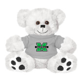 Plush Big Paw 8 1/2 inch White Bear w/Grey Shirt-M Marshall