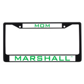 Mom Metal License Plate Frame in Black-Marshall
