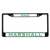 Dad Metal License Plate Frame in Black-Marshall