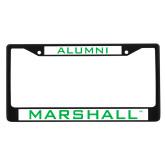 Alumni Metal License Plate Frame in Black-Marshall