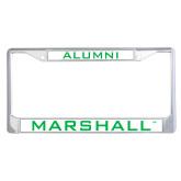 Alumni Metal License Plate Frame in Chrome-Marshall