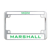 Metal Motorcycle License Plate Frame in Chrome-Marshall