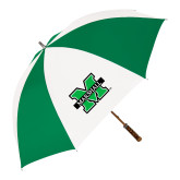 64 Inch Kelly Green/White Umbrella-M Marshall