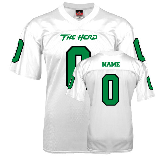 10% Off Football Jerseys: Replica Personalized Football Jersey - White