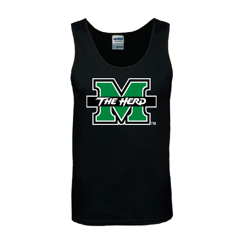 Gear Up for Summer: Black Tank Top - M-The Herd Italics Version