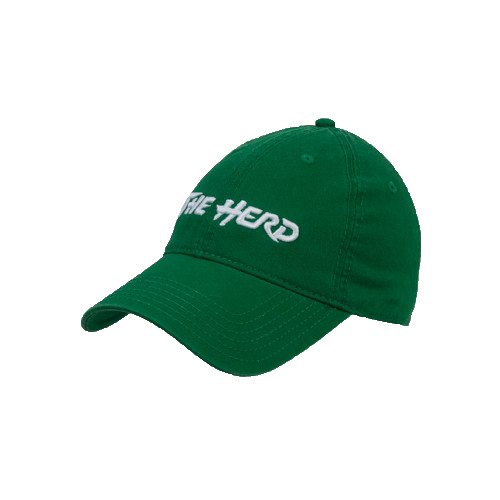 Top it Off: Twill Unstructured Low Profile Hat - Kelly Green