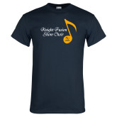 Navy T Shirt-Knight Fusion Show Choir Music Note