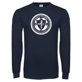 Navy Long Sleeve T Shirt-Marian COM Seal