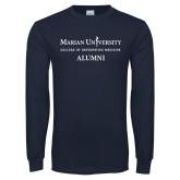 Navy Long Sleeve T Shirt-COM Alt