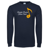 Navy Long Sleeve T Shirt-Knight Fusion Show Choir Music Note