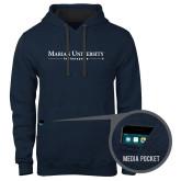 Contemporary Sofspun Navy Heather Hoodie-Primary Mark