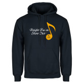 Navy Fleece Hoodie-Knight Fusion Show Choir Music Note