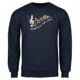 Navy Fleece Crew-Knight Fusion Show Choir Music Bar