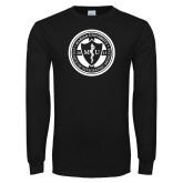Black Long Sleeve T Shirt-Marian COM Seal