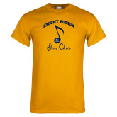 Gold T Shirt-Knight Fusion Arched over Music Note
