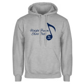 Grey Fleece Hoodie-Knight Fusion Show Choir Music Note
