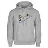 Grey Fleece Hoodie-Knight Fusion Show Choir Music Bar