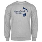 Grey Fleece Crew-Knight Fusion Show Choir Music Note