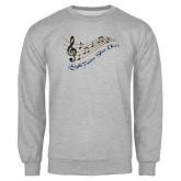 Grey Fleece Crew-Knight Fusion Show Choir Music Bar