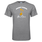 Grey T Shirt-Knight Fusion Arched over Music Note