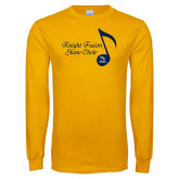 Gold Long Sleeve T Shirt-Knight Fusion Show Choir Music Note