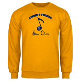 Gold Fleece Crew-Knight Fusion Arched over Music Note