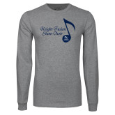 Grey Long Sleeve T Shirt-Knight Fusion Show Choir Music Note