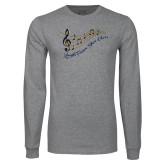Grey Long Sleeve T Shirt-Knight Fusion Show Choir Music Bar