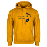 Gold Fleece Hoodie-Knight Fusion Show Choir Music Note