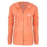 ENZA Ladies Coral Light Weight Fleece Full Zip Hoodie-SJI Stacked