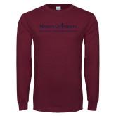 Maroon Long Sleeve T Shirt-COM Alt