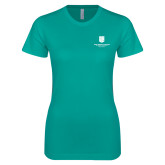 Next Level Ladies SoftStyle Junior Fitted Tahiti Blue Tee-SJI Stacked