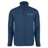 Navy Softshell Jacket-COM Alt