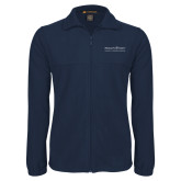 Fleece Full Zip Navy Jacket-COM Alt
